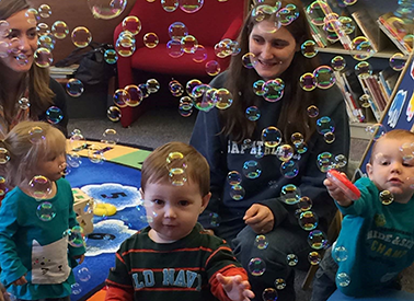 Library Storytime with Bubbles