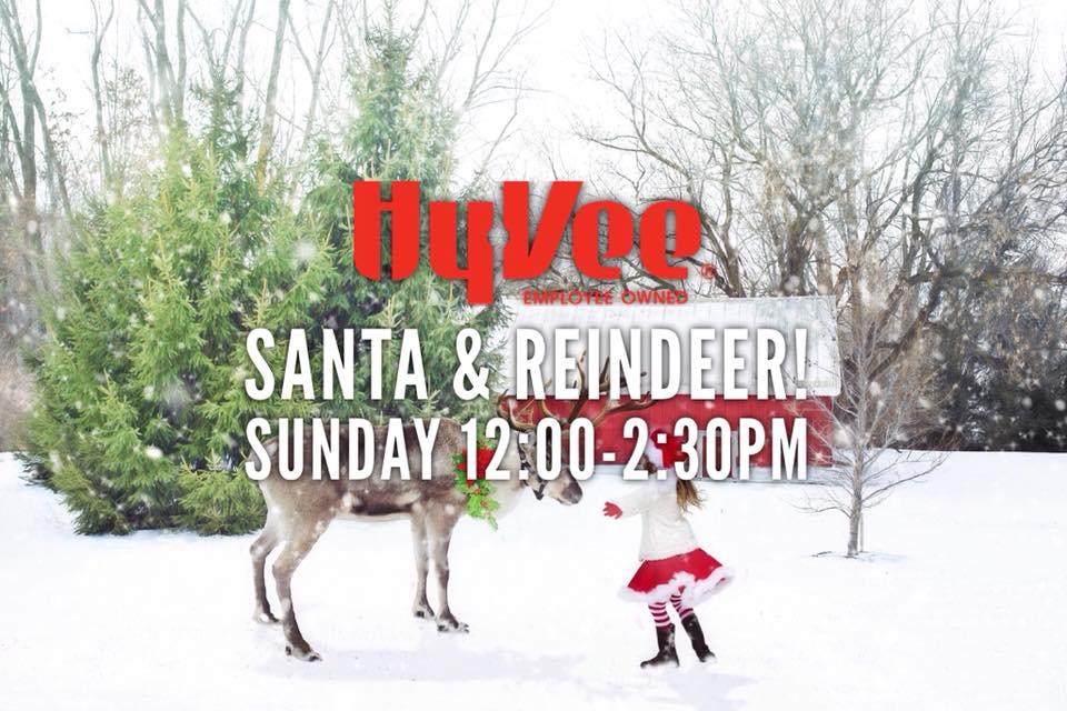 santa mrs claus the reindeer at hy vee - Hyvee Christmas Eve Hours