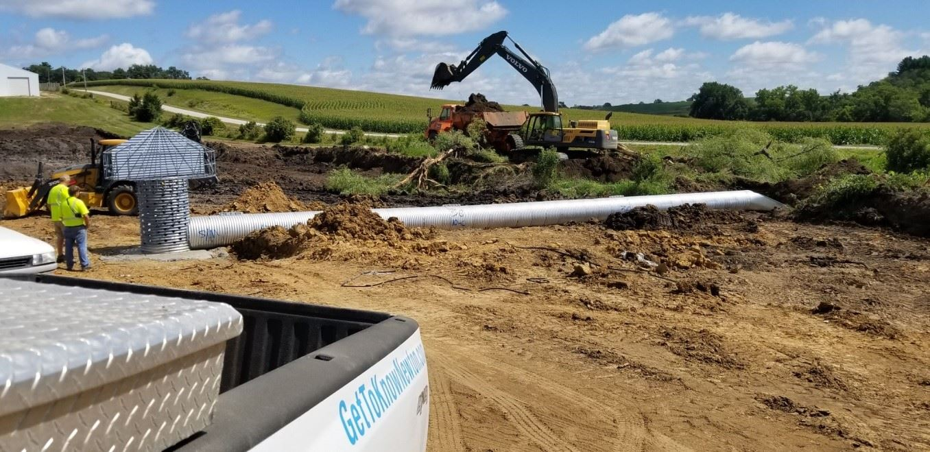 new storm water detention basin