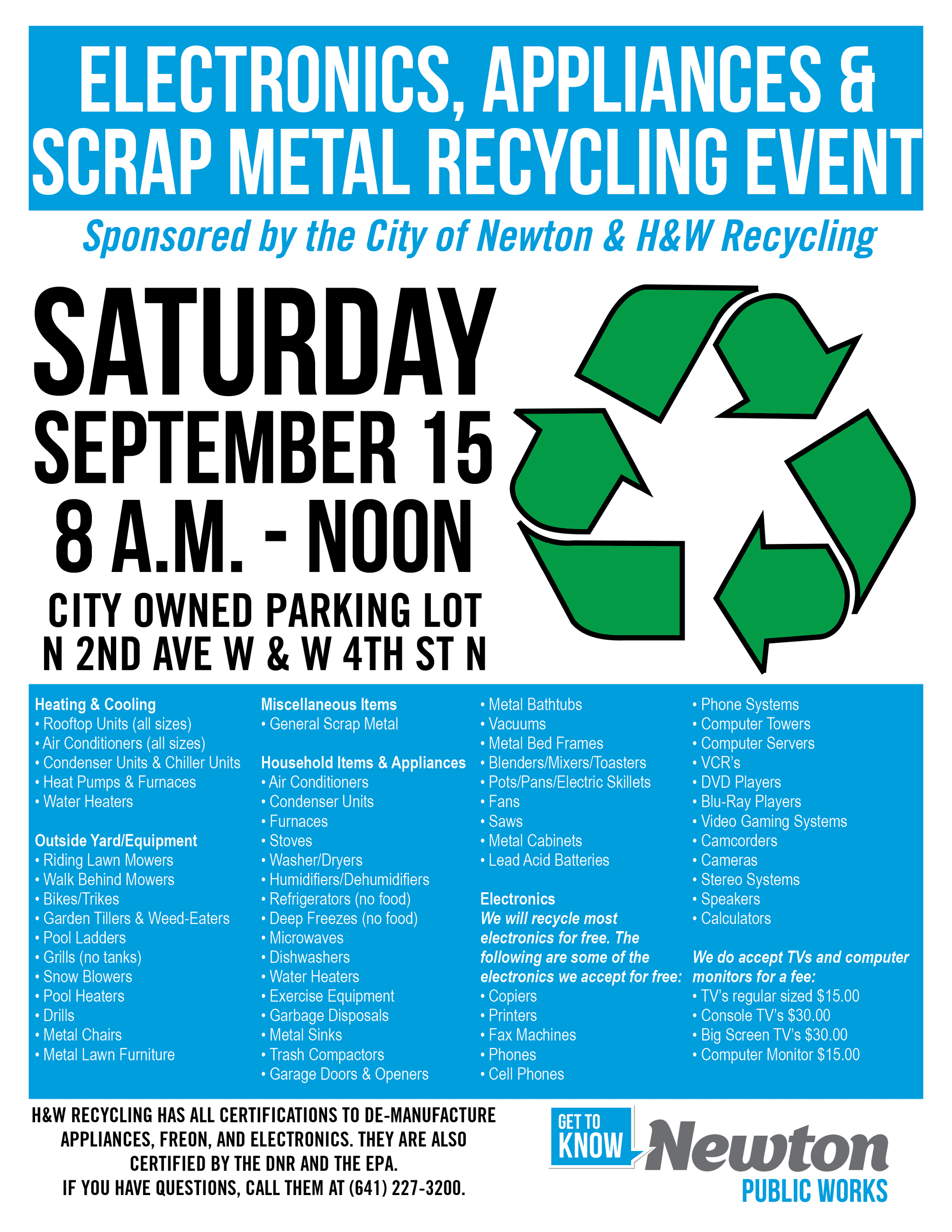 2018 recycling event