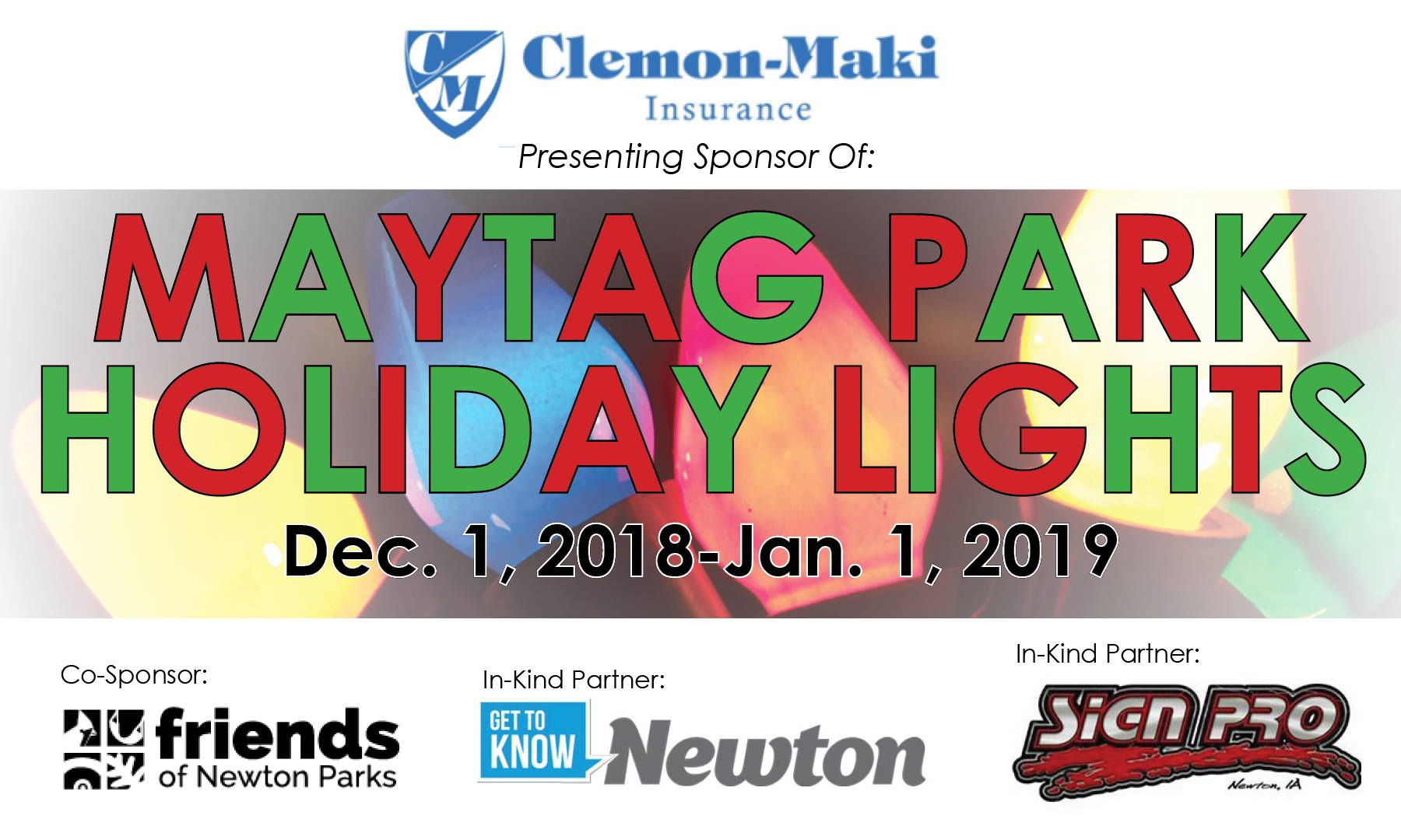 Maytag Park Holiday Light