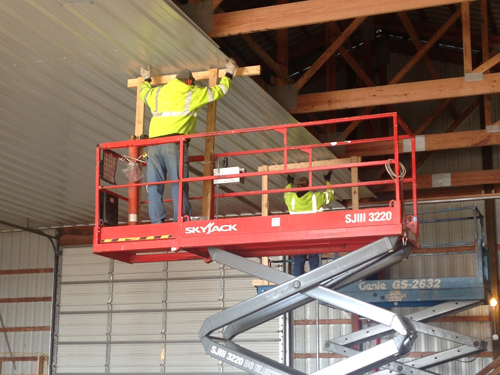 Public Works Maintenance Shop Ceiling Installation