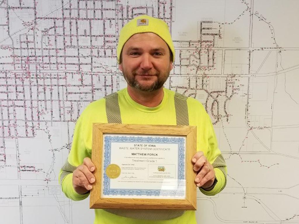 Matt Forck Waste Water Operator Certification