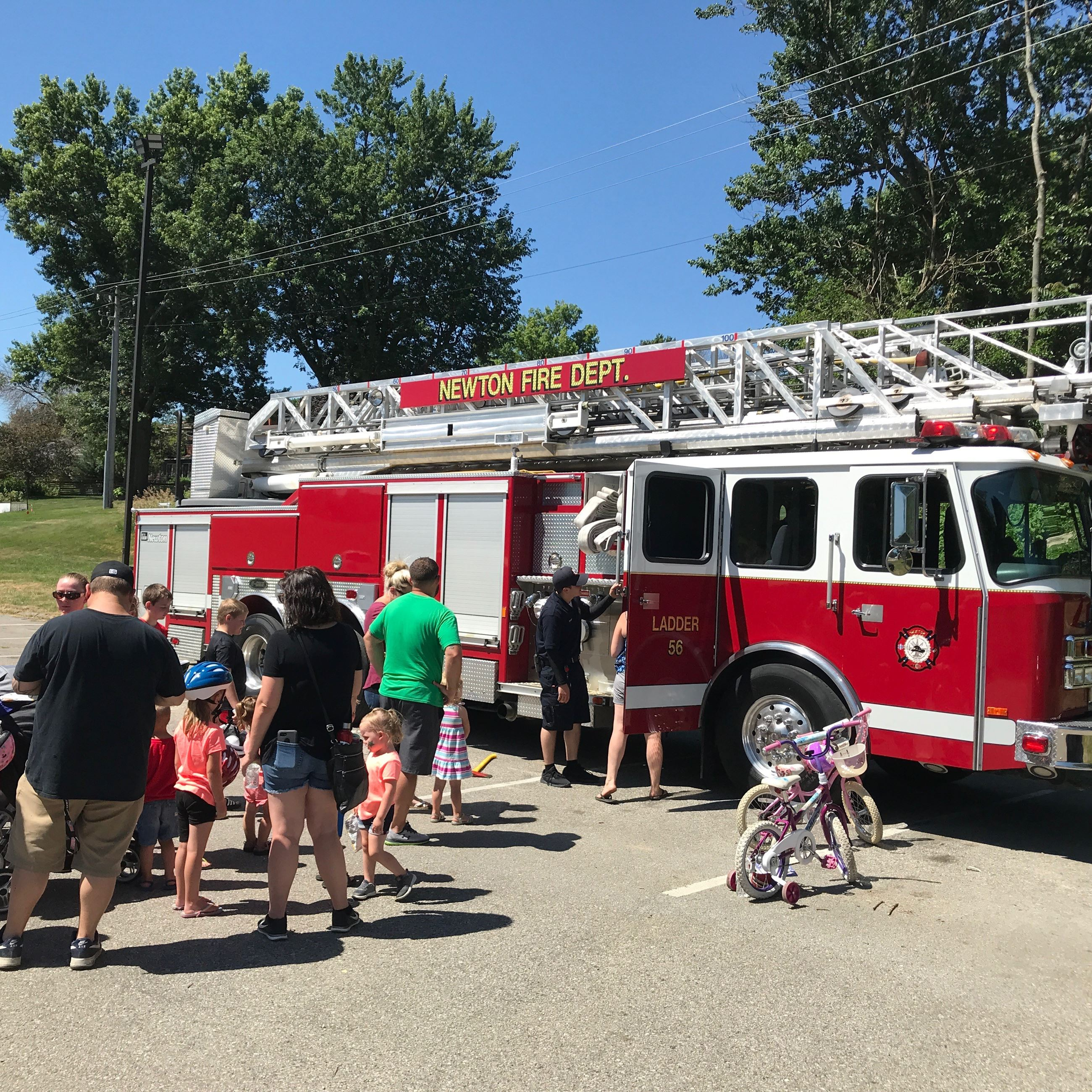 Firefighters Participate in Helmets and Hot Dogs Event