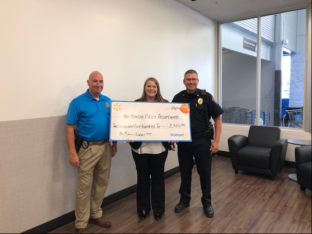 Newton Walmart Awards NPD with a $2500 Grant