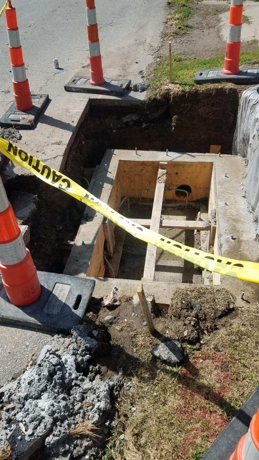 Public Works Operations Street Crews Rebuilding Storm Sewers