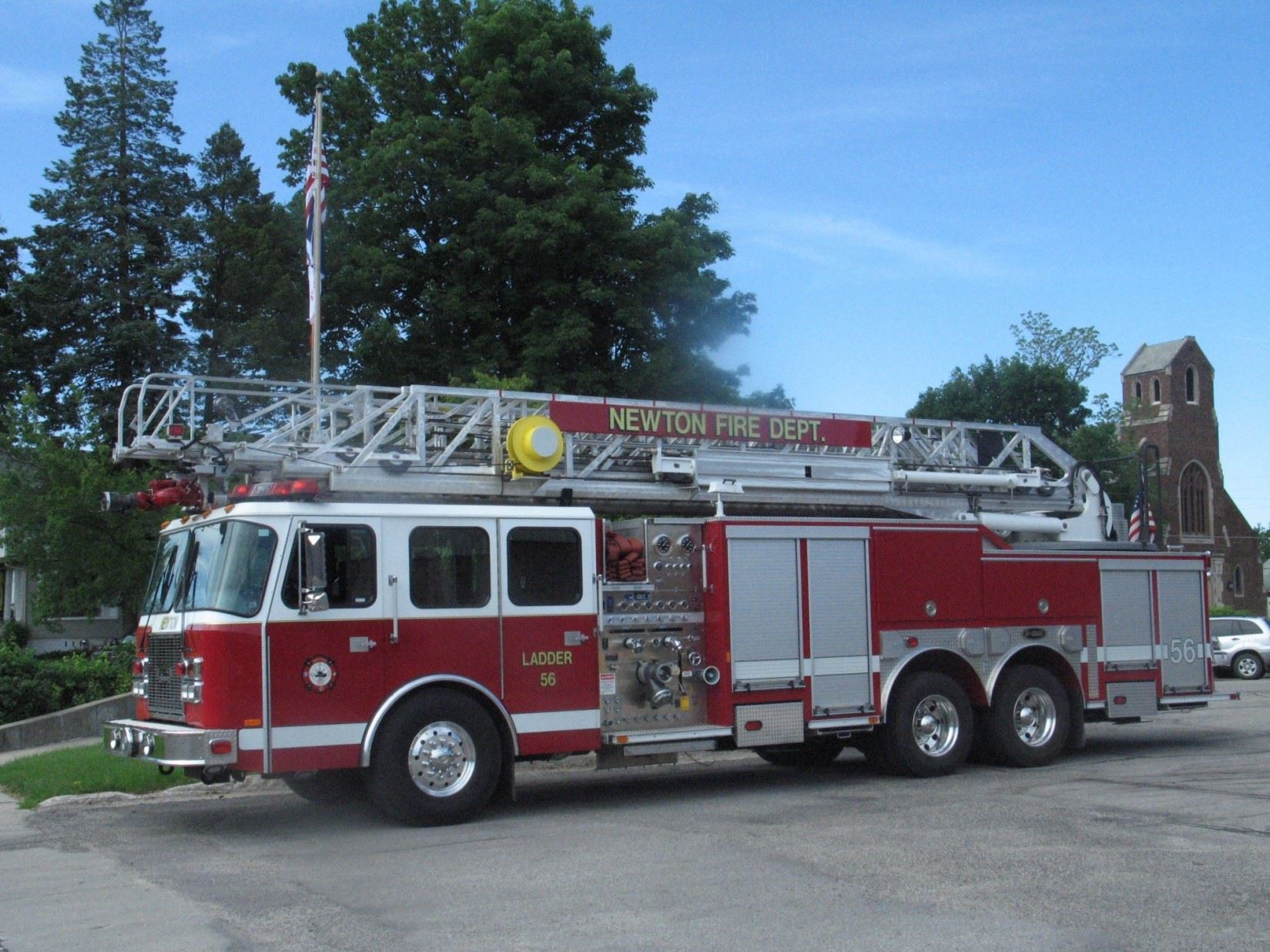 Ladder Truck in Indiana for Repairs