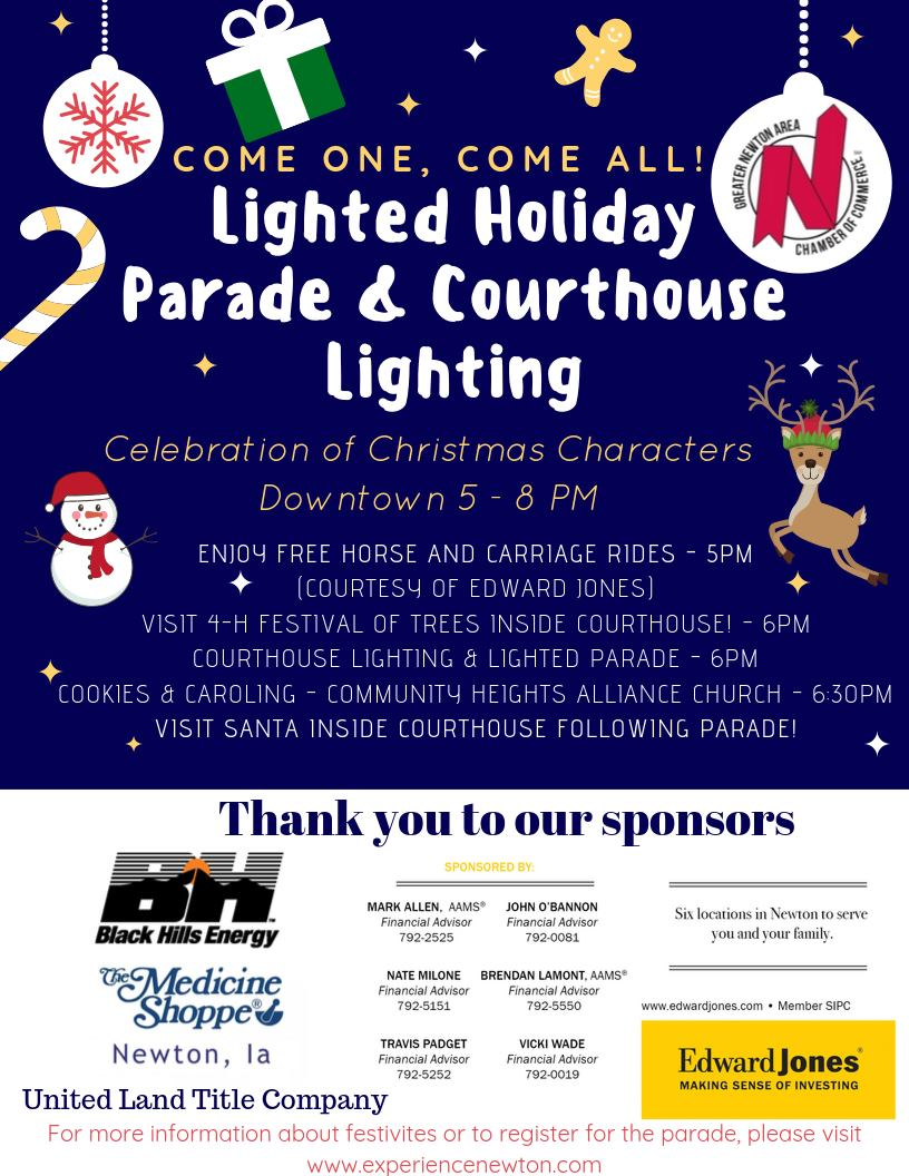 Lighted Holiday Parade & Courthouse Lighting