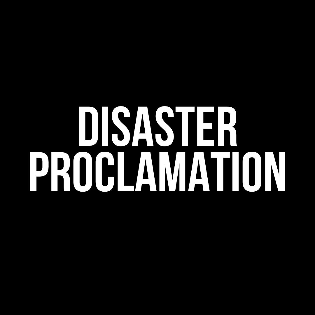disaster proclamation