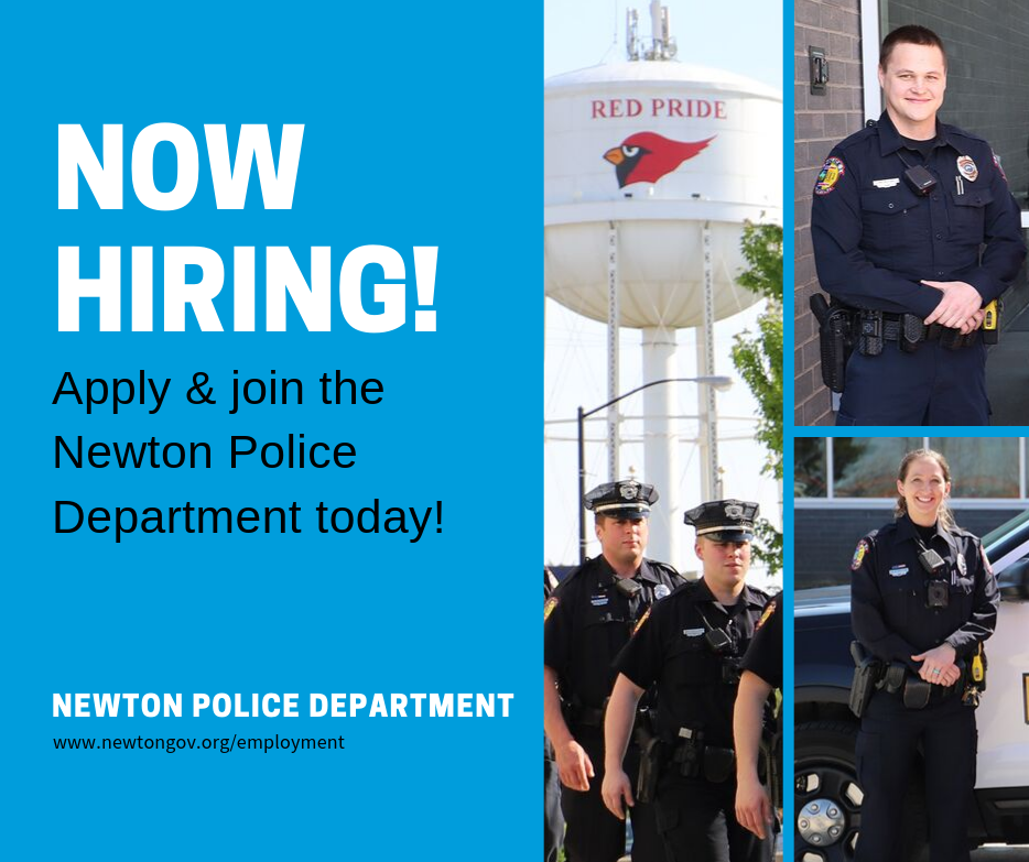 NOW HIRING Officer Graphic