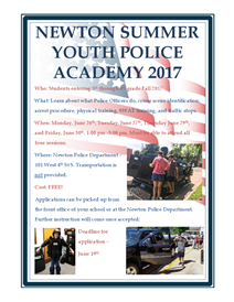 Newton Summer Youth Police Academy 2017  2.png