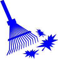 viewing clip art of a rake