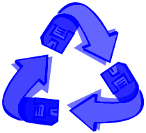 viewing clip art of recycling symbol