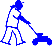 viewing image of person mulching clipart